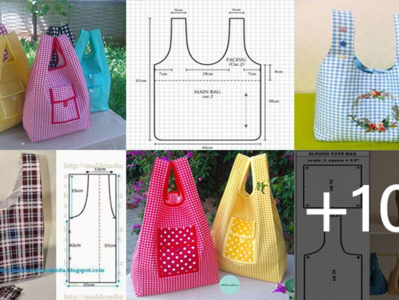 Patrones de bolsos para imprimir, masquelibros