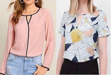 Patrones de camisas de mujer para imprimir, masquelibros