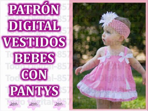 Patrones de vestidos de bebe para imprimir, masquelibros