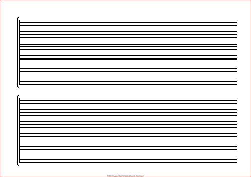 Pentagrama para imprimir a4 pdf, masquelibros