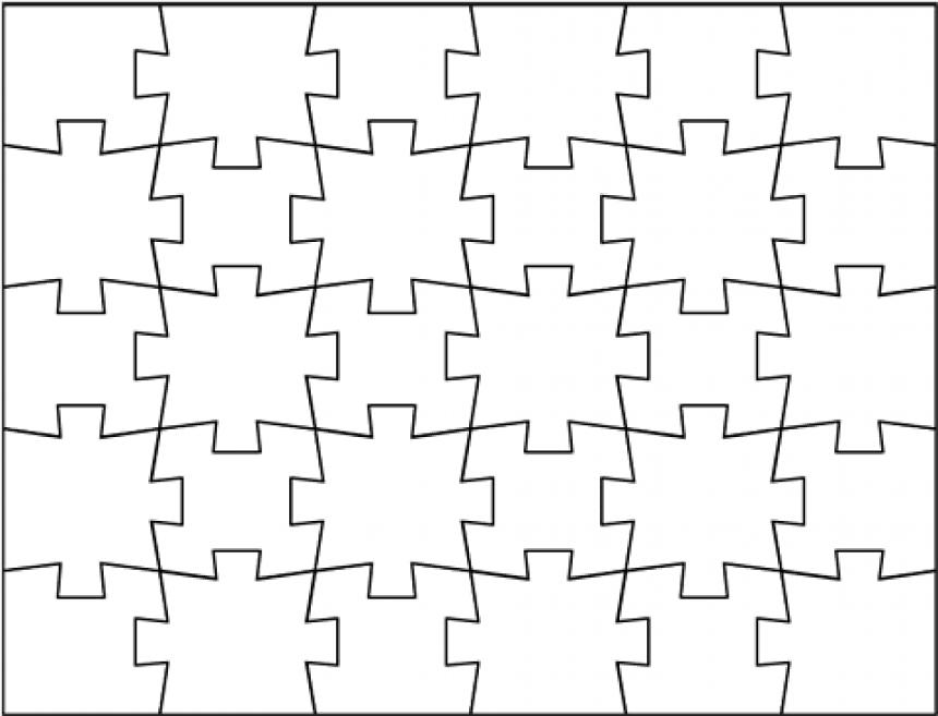Piezas de puzzle para imprimir, masquelibros