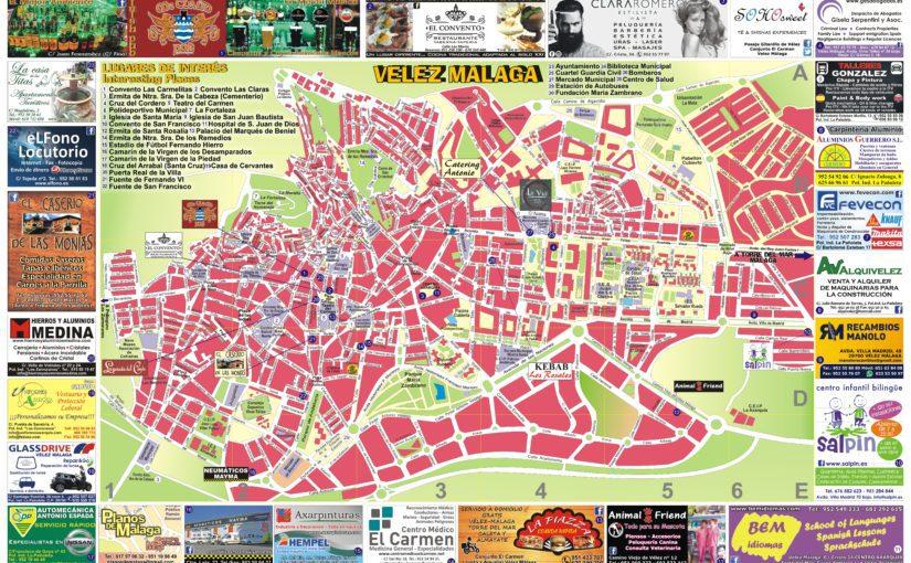 Plano de malaga capital para imprimir, masquelibros