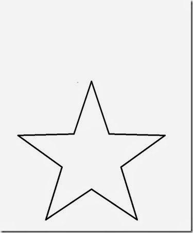 Plantilla de estrella de 5 puntas para imprimir, masquelibros