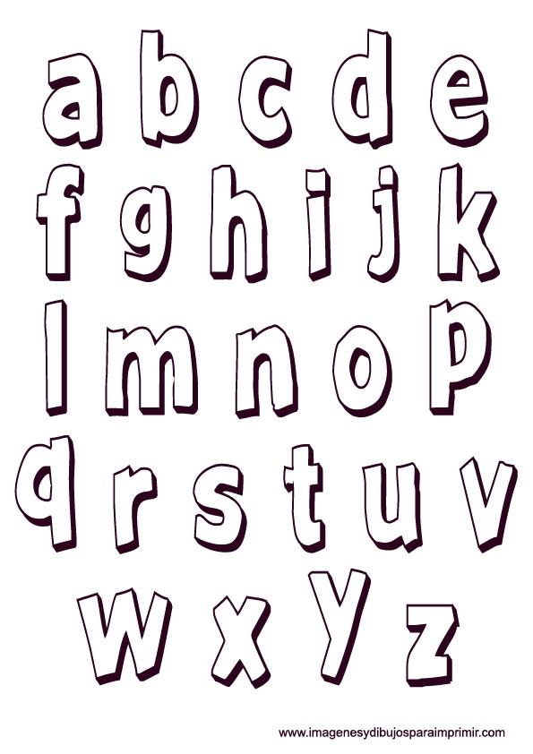 Plantillas de letras minusculas para imprimir, masquelibros