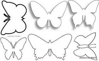 Plantillas de mariposas para imprimir, masquelibros