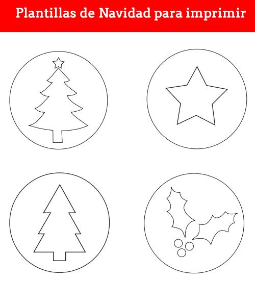 Plantillas de navidad para imprimir gratis, masquelibros