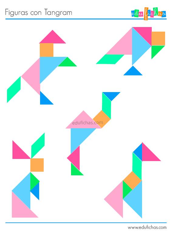 Plantillas tangram para imprimir pdf, masquelibros