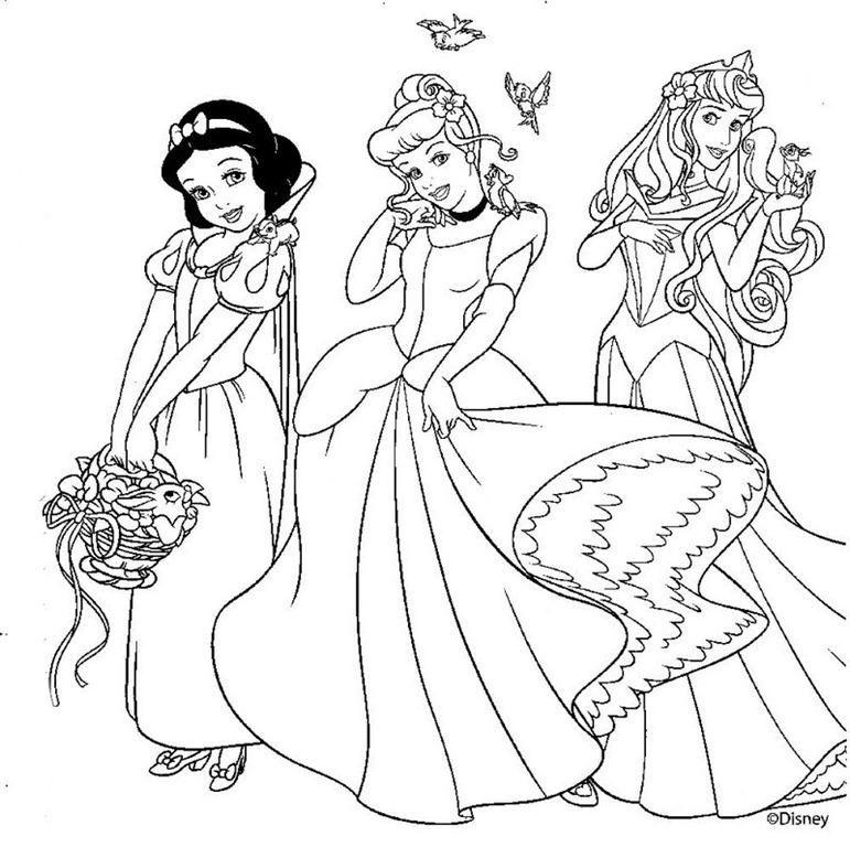 Princesas para colorear e imprimir, masquelibros