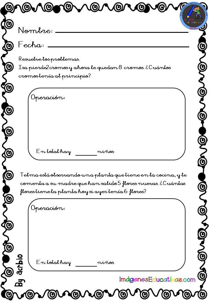 Problemas de matematicas 1o primaria para imprimir, masquelibros