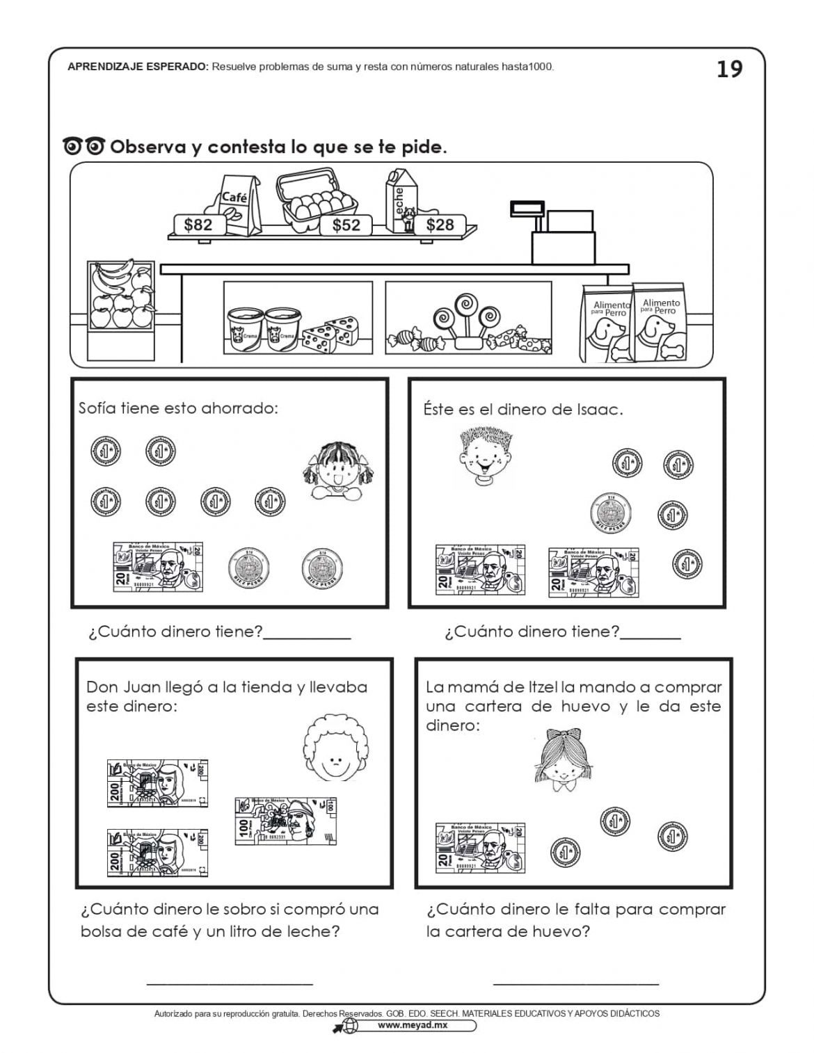 Problemas de matematicas 2 primaria para imprimir, masquelibros