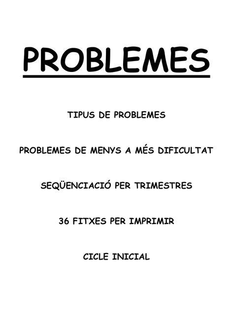 Problemes matemàtiques 3r primària per imprimir, masquelibros