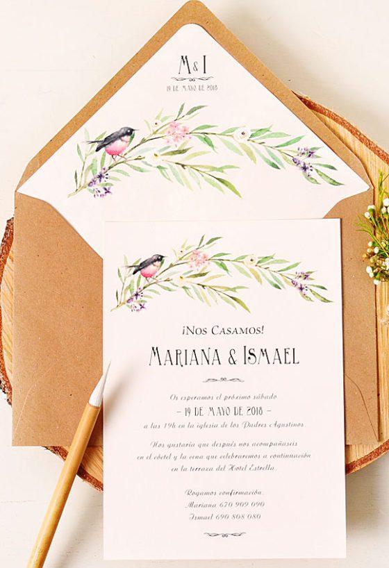 Tarjetas de boda para imprimir, masquelibros