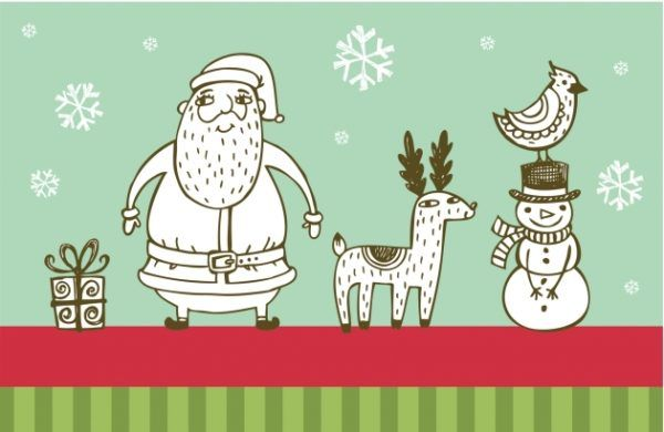 Tarjetas de navidad para imprimir, masquelibros